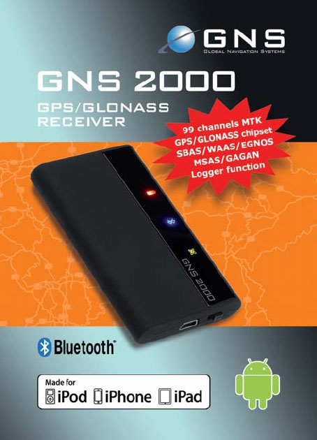 GNS 2000 Bluetooth GPS ontvanger verpakking